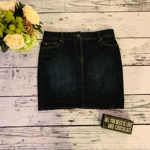 ANN TAYLOR JEAN SKIRT SIZE 4P LIKE NEW